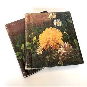 2 VINTAGE SCRAPBOOKS 1970's PHOTO COLLAGE PICTURE